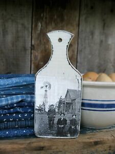 Little Antique Wood Whale Tail Cutting Board Old Photo Print Free Shipping