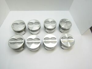 New Silvolite 345np 030 350 Chevy Flat Top Pistons 5 7 Rod Demo Derby