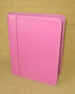 Classic 1 25 Rings unused Pink Leather Franklin Covey Open Planner binder