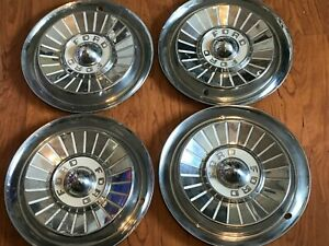 Set 4 1957 Ford Fairlane Thunderbird Hubcaps Wheel Covers Center Cap Vintage 14