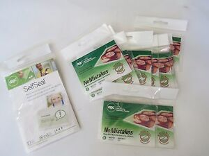 Gbc No Mistakes Self Seal Adhesive Laminating Pouches Wallet Lot 2 3 8 3 7 8