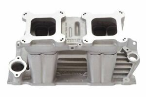 Sbc Street Tunnel Ram Base Top Edelbrock 7110