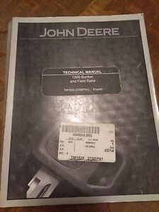 John Deere 1200 Bunker And Field Rake Technical Manual Tm1525