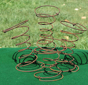 4 Rusty Wire Springs For Primitive Crafts From Antique Car 1929 Graham Paige