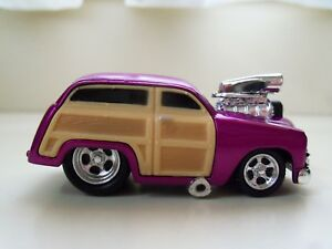Muscle Machines 1950 50 Ford Woody Supercharged 164 Diecast Loose