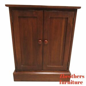 Ethan Allen American Impressions Cherry Mission Office Printer Stand Cabinet