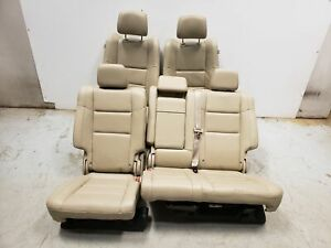 2017 Jeep Grand Cherokee Seats Front Rear Left Right Tan Leather Dual Power Oem