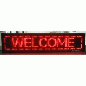 Brand New Led Programmable Red Display Size 49x11 Inch Indoor Sign Lp p121696r