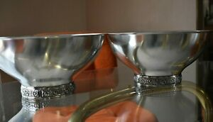2 Match Mid Century Modern Stainless Steel Serving Bowls International Decorator