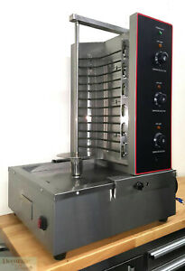 Gyro Kebob Electric Broiler Vertical 6kw Rotisserie Countertop Stainless 34 New