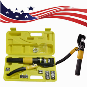 Us 10 Ton Hydraulic Wire Battery Cable Lug Terminal Crimper Crimping Tool