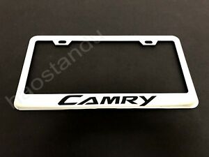 1xcamry Stainless Steel License Plate Frame Screw Caps