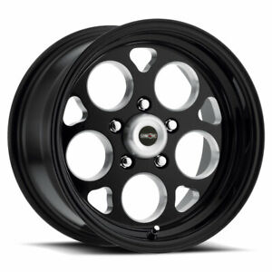 15 Vision Muscle 561 Sport Mag Black W Milled Windows Wheel 15x10 5x4 75 25mm