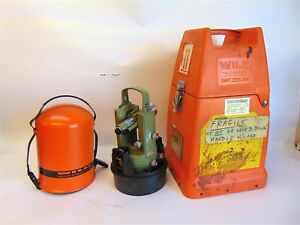 Wild Heerbrugg Wild T16x Theodolite For Surveying With Transit Cast Nice S4029