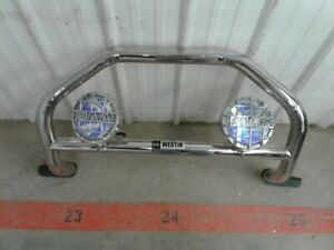 Westin Brush Guard Chrome W Fog Lights Lamps For 2012 Buick Enclave