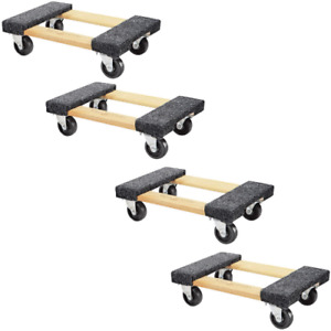 Furniture Moving Dolly 4 Pack 1000lb Capacity Small Wood Mover For Appliances