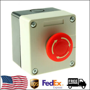 1 2 3 5 10pcs Red Sign Emergency Stop Push Button 660v 10a Switch Us Shippping