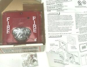 Amseco Potter New Red Horn Strobe 75cd Or 110cd Indoor Sh24w 75110r 4 75x4 75