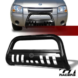 For 2001 2004 Nissan Frontier Black Hd Bull Bar Brush Bumper Grill Grille Guard