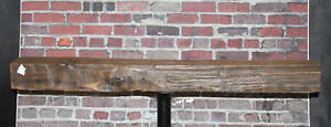 Rustic Reclaimed Mantle Hand Hewn Oak Barn Beam Wood Shelf Mantel Shelf 48