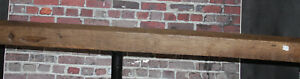 Rustic Reclaimed Mantle Sawn Oak Barn Beam Wood Floating Mantel Shelf 72