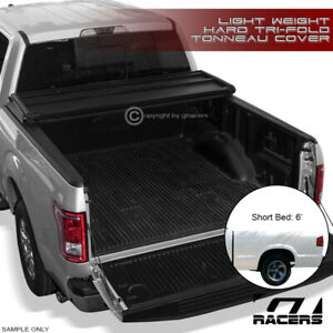 Tri fold Hard Tonneau Cover Lw 1994 2003 Chevy S10 gmc S15 Sonoma hombre 6 Bed