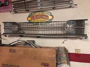 Mopar Dodge Dart Grill 1968 68 With Parking Lights Used Good Shape