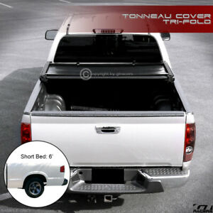For 1994 2003 Chevy S10 Pickup gmc Sonoma 6 Ft Bed Tri fold Soft Tonneau Cover
