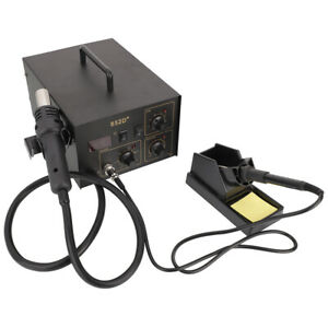852d 2 In 1 Hot Air Gun And Soldering Station Digital Display Hot Air With Tips