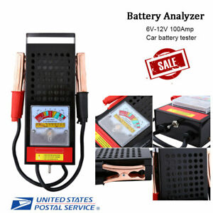 6v12v Car Van Auto Battery Tester Load Drop Charging System Analyzer Tool 100amp