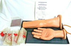 Simulaids Intravenous Iv Training Arm Hand Doctor Operation Practice Dummy New
