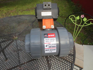4 Pneumatic Actuated Air Operated Hayward True Union Ball Valve Lb309