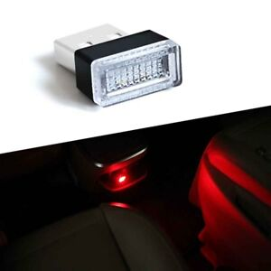 2pcs Usb Plug In Small Red Led Lights Car Home Dash Floor Atmosphere Lighting