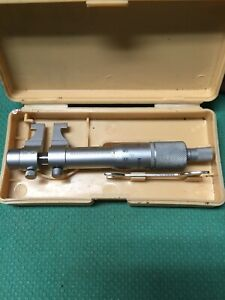 Mitutoyo 25 50mm Inside Micrometer 01mm Resolution 145 186 Carbide Faces
