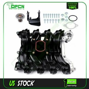 New For Ford Lincoln Mercury 4 6l V8 Intake Manifold W Gaskets Thermostat Kit