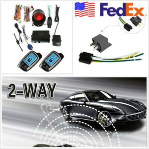Us Stock 2 Way Alarm Security System Anti theft 2 super Long Distance Controlers