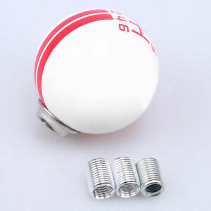 Manual Gear Shift Knob Shifter Lever 6 Speed For Ford Mustang Shelby White Red