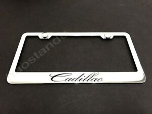 1xcadillac Stainless Steel License Plate Frame Screw Caps