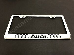 1x Audi Ll Stainless Steel License Plate Frame Screw Caps Style L