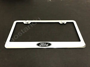 1x Fordlogo Stainless Steel License Plate Frame Screw Caps