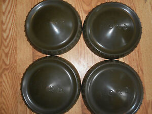 New Ford U S Military Truck Dog Dish Hubcaps 9 1 2 Poverty Set Nos
