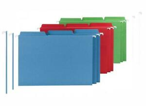 Smead Fastab Hanging File Folder 1 3 cut Built in Tab Legal Size Assorted