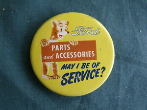 Vintage 1956 Ford Advertising Pin Parts And Accessories 56