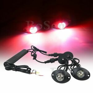 2in1 Hide A Way Flashing Red White 12w Led Patrol Truck Vehicle Strobe Light