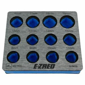 Ez Red Shm38 3 8 Drive Magnetic Eva Foam Metric Socket Holder Tray New