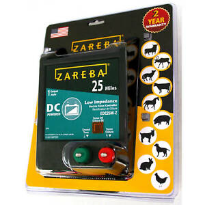 Zareba 25 mile Battery Operated Low Impedance Electric Fence Charger