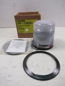 New Whelen Is3210 Clear Dome Siren Is3 Strobe Light Beacons 120v Single Flash Ac