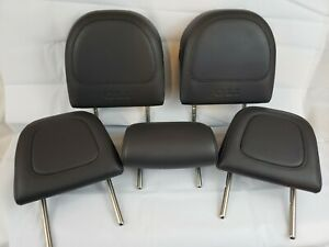 Vw Mk5 Jetta Gli Oem Headrest Complete Set Of 5 Dark Grey Leather 2006 2009