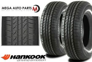 2 Hankook Optimo H724 P225 75r15 102s White Wall Wsw All Season Touring Tires