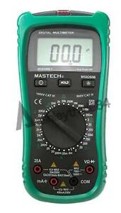 Mastech Digital Multimeter Dmm Volt Tester Detector Ammeter Multitester Ms8260b